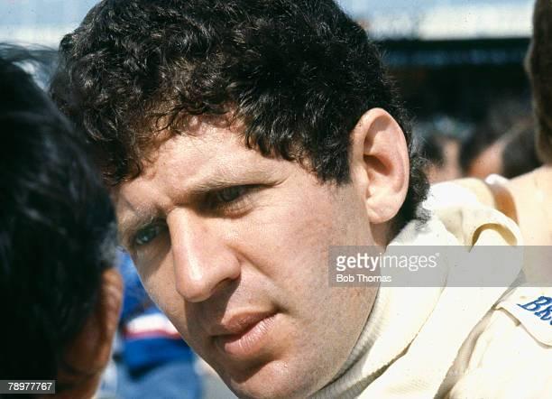 South African racing driver Jody Scheckter, driver of the Scuderia Ferrari Ferrari 312T4 Ferrari flat-12, pictured during the 1979 British Grand Prix...