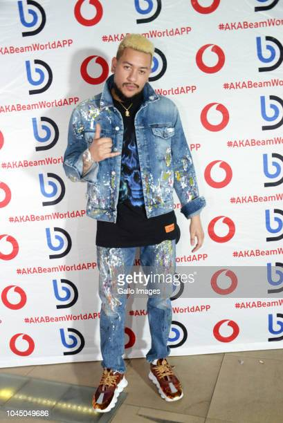 South African rapper AKA during the exclusive launch of AKA Beam World App powered by Vodacom at the Pivot Montecasino on Johannesburg South Africa...
