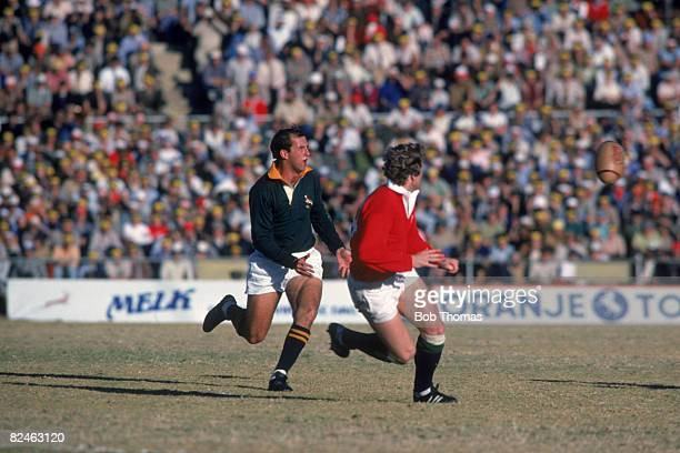 South African rugby player Gysie Pienaar a fullback for the Springboks during the 2nd test match against the British Lions 16th June 1980