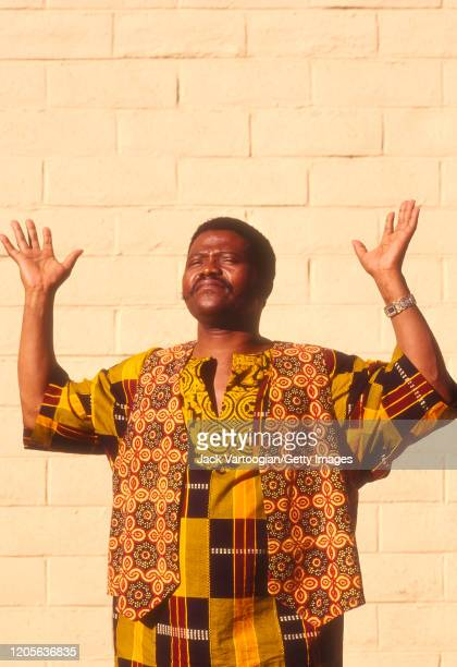 South African singer and band leader Joseph Shabalala poses for photographs at the Luther Burbank Center in Santa Rosa California September 30 1994