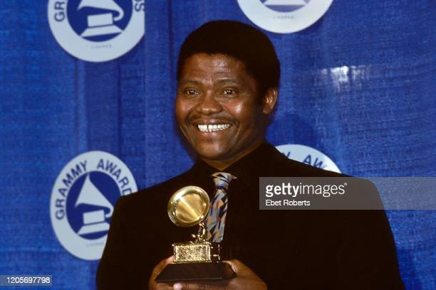 South African singer and musician Joseph Shabalala of Ladysmith Black Mambazo at the 1988 Grammy Awards at Radio City Music Hall New York City March...