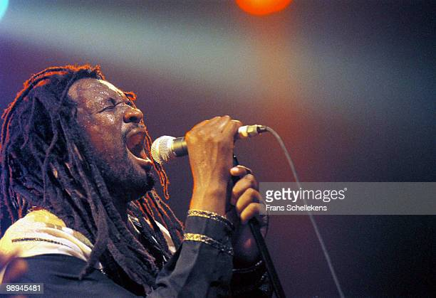 South African singer Lucky Dube performs live on stage at Melkweg in Amsterdam Netherlands on August 30 1999