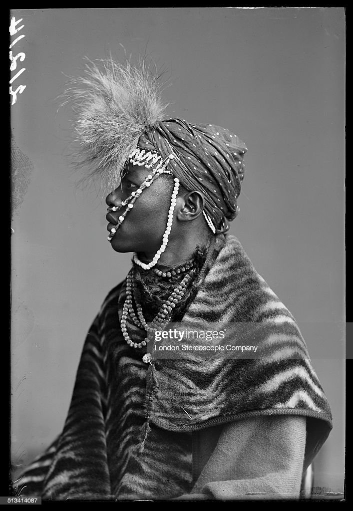 South African singer Wellington Majiza, a member of The African Choir, 1891. The choir, drawn from seven different South African tribes, toured Britain from 1891 to 1893 to raise funds for a technical college in their home country.