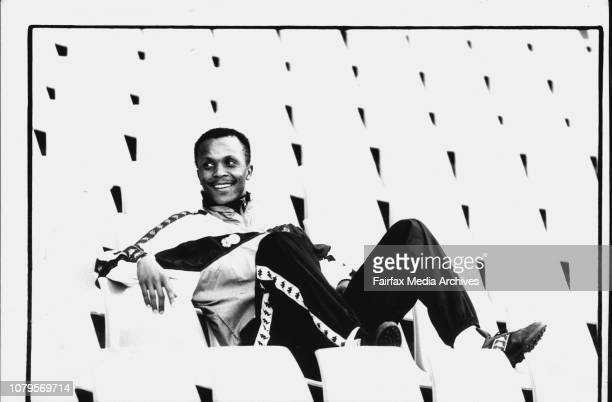 ***** South African soccer star Doctor Khumalo relaxing at the Sydney Football stadiumThe socalled Friendship Tour will be put on hold for 90 minutes...