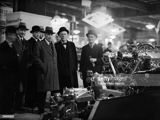 South African soldier and prime minister James Hertzog with British inventor, naval engineer, and uncle of Siegfried Sassoon, John Thornycroft and...