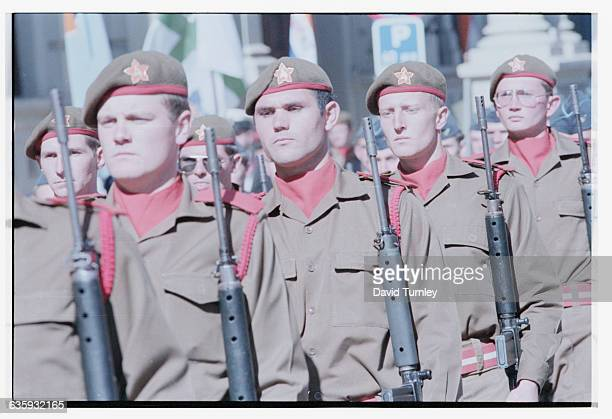 South African Soldiers in Military Parade