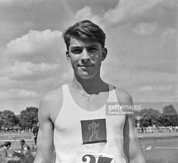 South African sprinter Paul Nash at an athletics meet in the UK, 9th August 1965.