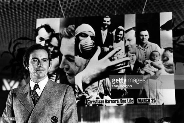South African surgeon Christiaan Neethling Barnard who performed the first successful human heart transplant at the launch of his autobiography 'One...