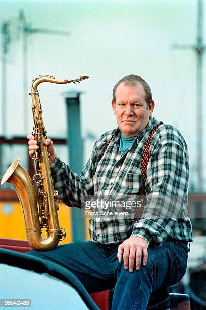 South African tenor sax player Sean Bergin posed in Amsterdam, Netherlands on November 14 2000