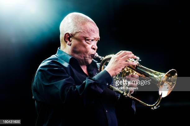 South African trumpeter Hugh Masekela in concert 17th February 2012