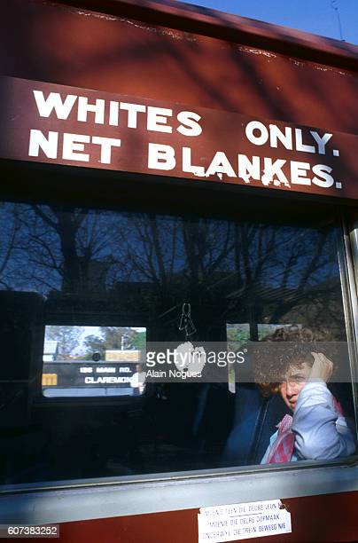 South African 'Whites Only' Train Compartment