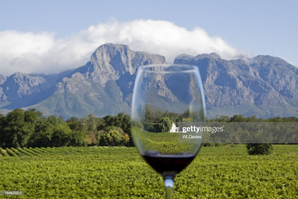 South African Wine Country : Stock Photo