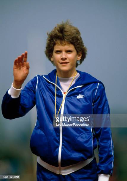 South Africanborn athlete Zola Budd of Great Britain at the UK Athletics Championships circa 1984