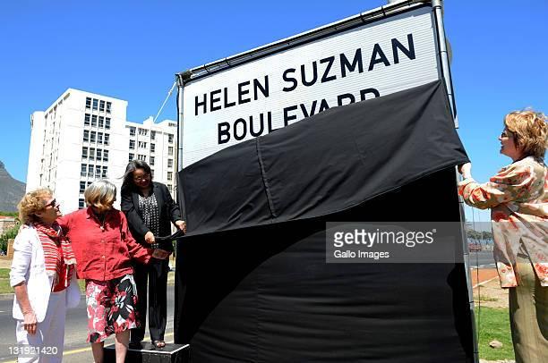 South Africanborn British actress Dame Janet Suzman Helen Suzman's daughter Patricia Suzman Cape Town Mayor Patricia De Lille and Premier Helen Zille...