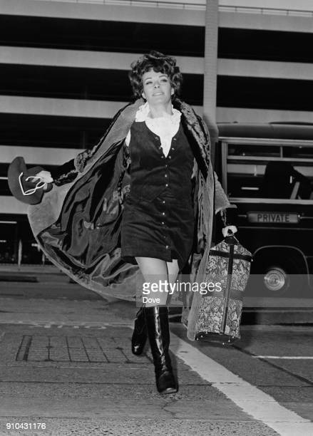 South African/British actress Janet Suzman arrives at Heathrow Airport to leave for the US UK 1st January 1968