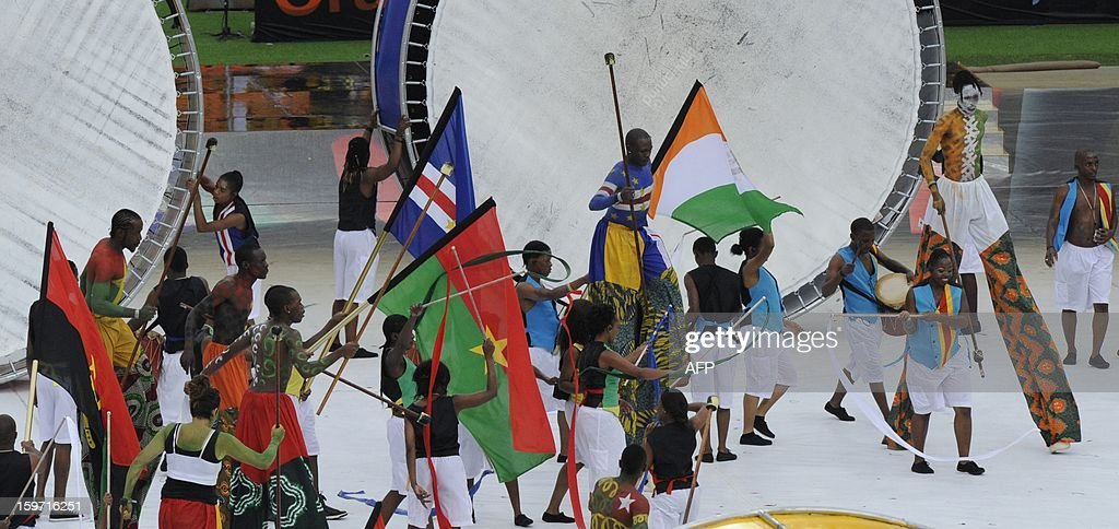 South Africans perform during the opening ceremonies of 2013 Africa Cup of Nations at Soccer City stadium in Soweto on January 19, 2013 .