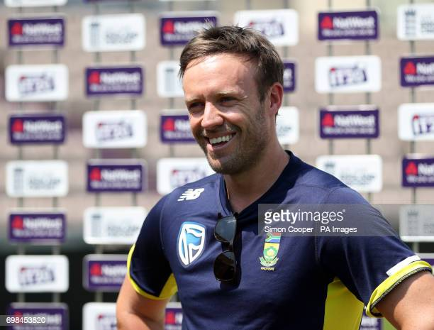 South Africa's AB de Villiers during a media session at The Ageas Bowl Southampton