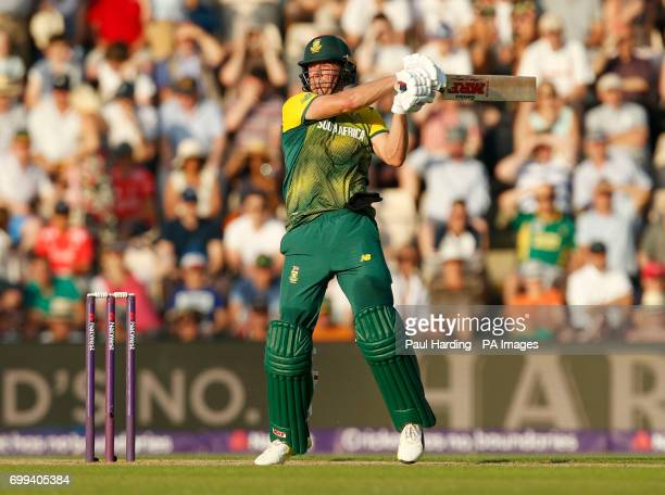 South Africa's AB De Villiers during the1st NatWest T20 Blast match at the Ageas Bowl Southampton