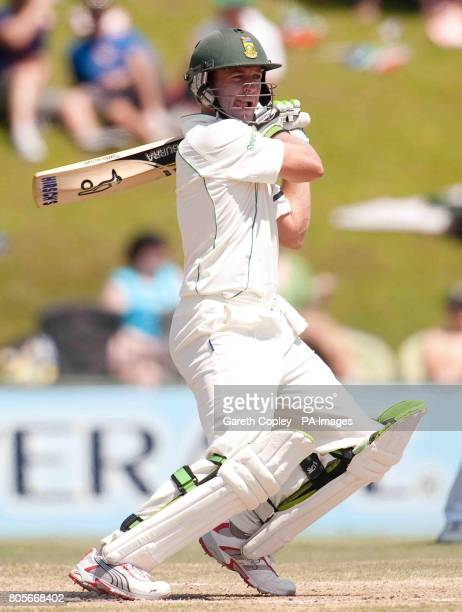 South Africa's AB deVilliers bats during the First Test at the SuperSport Park Centurion South Africa