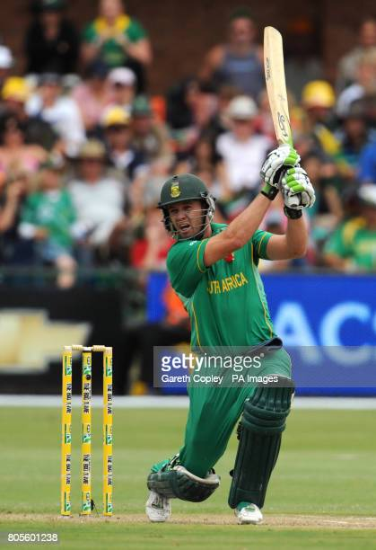 South Africa's AB deVilliers bats during the Fourth OneDay International at St Georges Park Port Elizabeth South Africa
