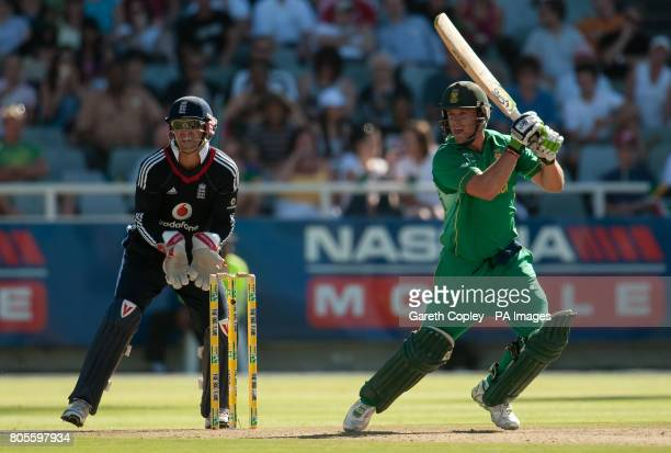 South Africa's AB deVilliers during the Third OneDay International at Newlands Cricket Ground Cape Town South Africa