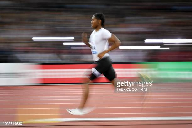 South Africa's Caster Semenya competes to win the women's 800 metres during the IAAF Diamond League 'Weltklasse' athletics meeting at the Letzigrund...