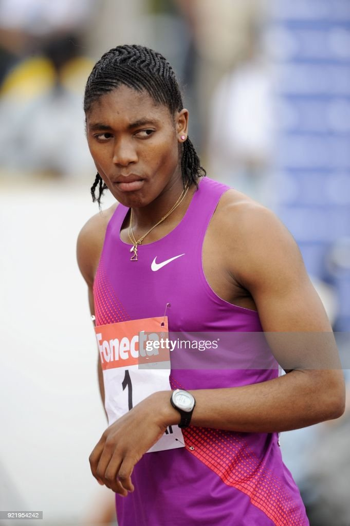 South Africa's Caster Semenya prepares for the women's 800 metres in Lapinlahti, Finland on July 18, 2010. Semenya's gender was under investigation after the Berlin World Championships 2009, where she won the women's 800 metre gold. LEHTIKUVA / Martti Kainulainen /
