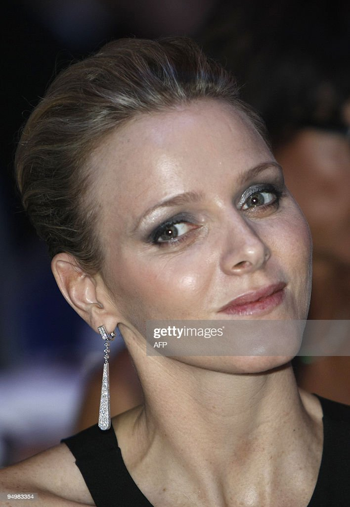 South Africa's Charlene Wittstock, girl friend of Prince Albert II of Monaco, is pictured during the 2009 FIA prize presentation gala on December 11, 2009 in Monaco.
