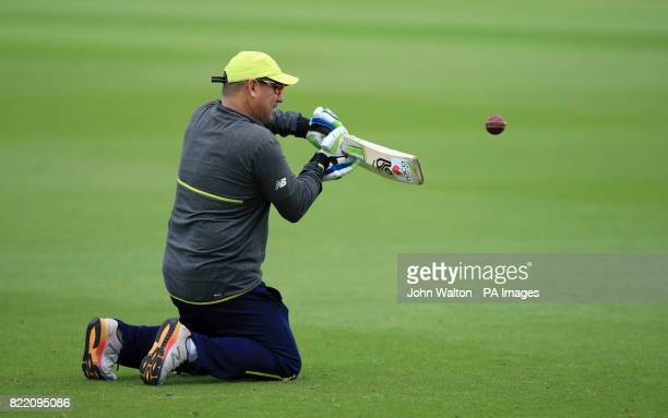 South Africa's coach Russell Domingo during a nets session at the Kia Oval London