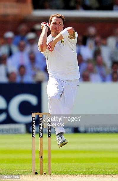 South Africa's Dale Steyn throws a ball during the second day's play of the third International Test cricket match between England and South Africa...