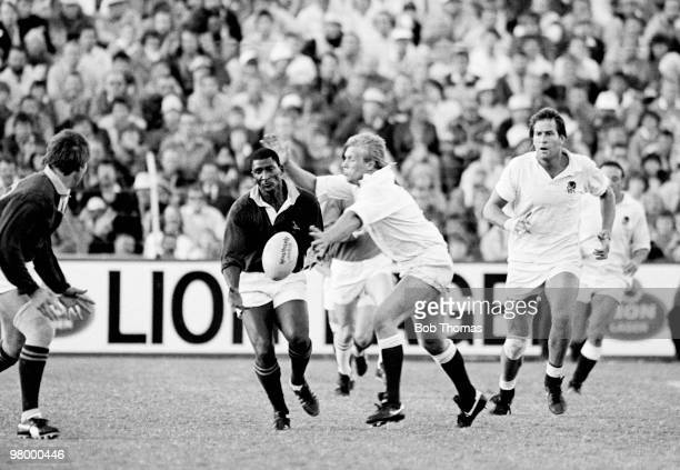 South Africa's Errol Tobias with England's Peter Winterbottom in action during the England Rugby Tour of South Africa in a match held at Port...