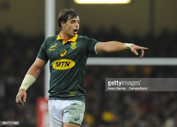 South Africa's Francois Venter during the 2017 Under Armour Series Autumn International match between Wales and South Africa at Principality Stadium...
