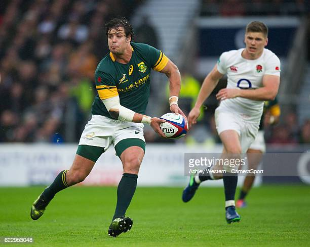 South Africa's Francois Venter in action during todays match during the Old Mutual Wealth Series Autumn International match between England and South...