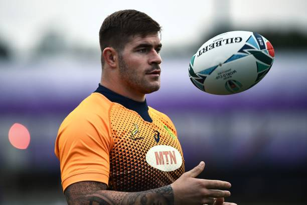 South Africa's hooker Malcolm Marx takes part in a training session Fuchu Asahi Football Park in Tokyo on October 22, 2019, ahead of their Japan 2019 Rugby World Cup semi-final against Wales. (Photo by Anne-Christine POUJOULAT / AFP) (Photo by ANNE-CHRISTINE POUJOULAT/AFP via Getty Images)