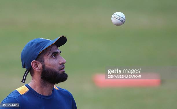 South Africa's Imran Tahir looks on during a training session on the eve of the second T20 cricket match between India and South Africa at the...