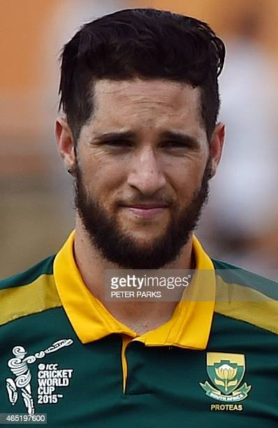 South Africa's JP Wayne Parnell is pictured during the 2015 Cricket World Cup at the Manuka Oval in Canberra on March 3 2015 AFP PHOTO / Peter PARKS...