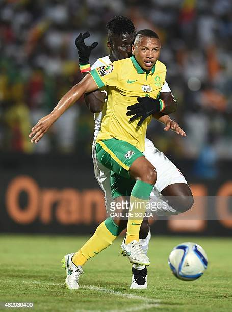 South Africa's midfielder Andile Jali vies with Senegal's defender Kara Mbodj during the 2015 African Cup of Nations group C football match between...