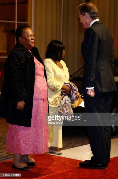 South Africa's Minister for International Relations and Cooperation Naledi Pandor arrives as Prince William, Duke of Cambridge and Catherine, Duchess...