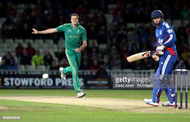 South Africa's Morne Morkel bowls a wide which goes for five wides during the NatWest International T20 match at Edgbaston Brimingham