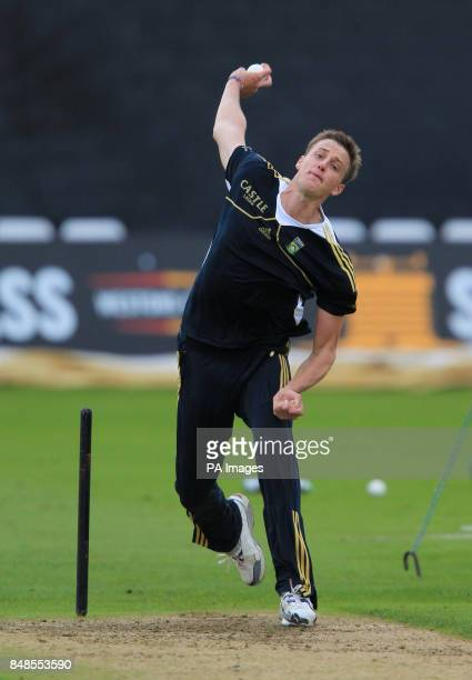 South Africa's Morne Morkel during a nets session at Trent Bridge Nottingham