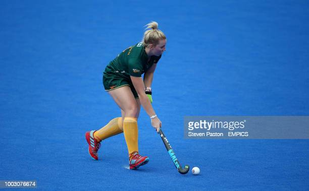South Africa's Nicole Walraven in action Germany v South Africa Women's Hockey World Cup 2018 Pool C Lee Valley Hockey Tennis Centre
