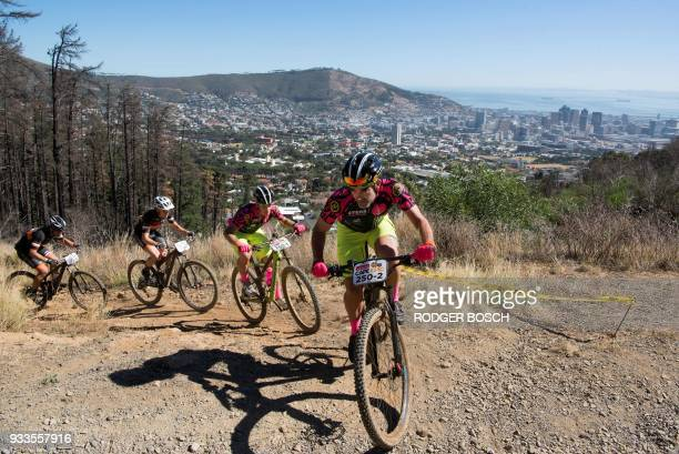 South Africa's Niel Rossouw and Leon Erasmus of Team Alta du Toit and South Africa's Jacobus Lacock and Hannes Van Rensburg of Team Fairtree Racing...