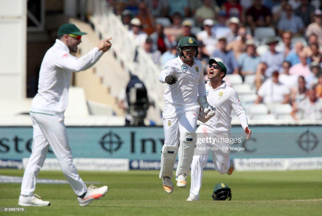 England v South Africa - Second Investec Test Match - Day Four - Trent Bridge : News Photo