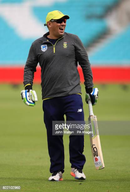 South Africa's Russell Domingo during a nets session at the Kia Oval London