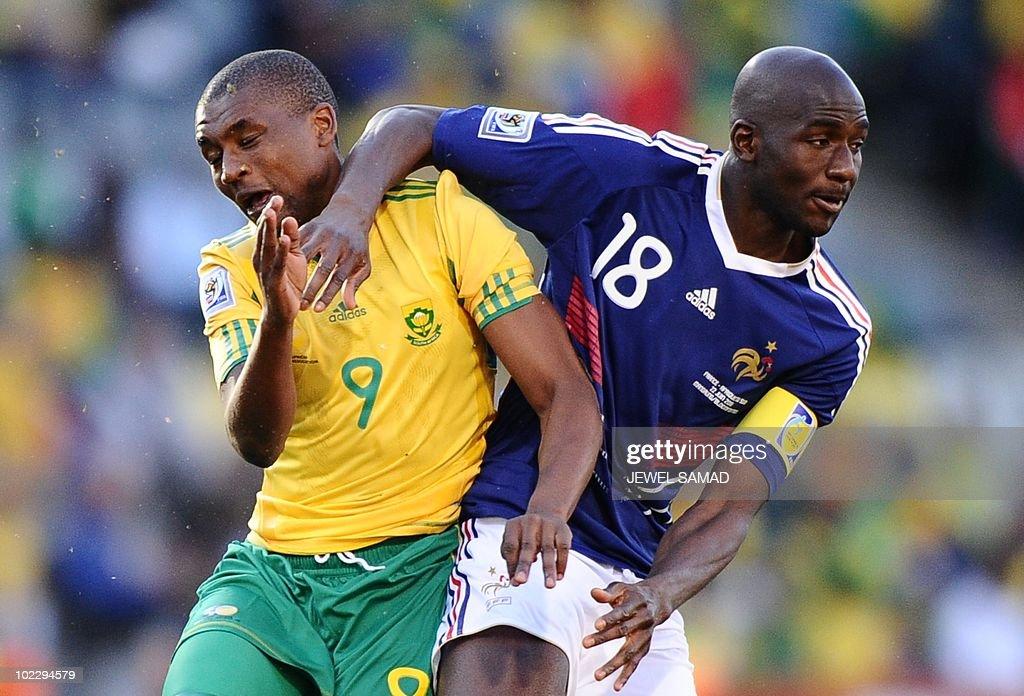South Africa's striker Katlego Mphela (L : News Photo