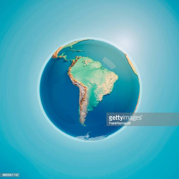 South America 3D Render Planet Earth
