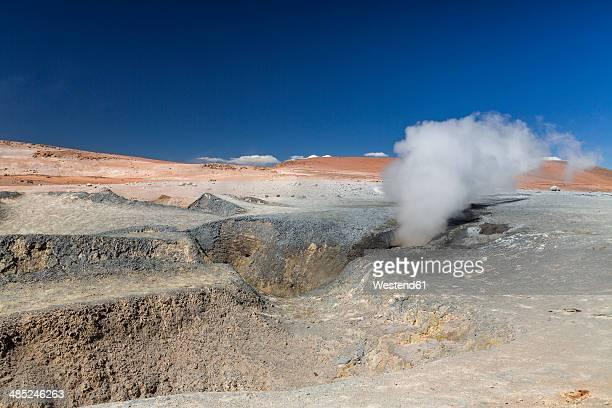 South America, Bolivia, Atacama Desert, Altiplano, Geysers Sol de Manana