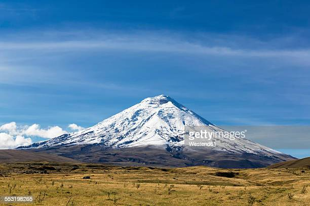 south america, ecuador, andes volcano cotopaxi, cotopaxi national park - ecuador fotografías e imágenes de stock