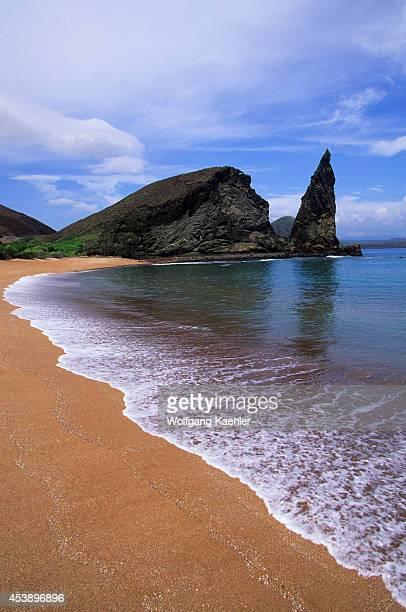 South America Ecuador Galapagos Island Bartholome Island View Of Pinnacle Rock Beach
