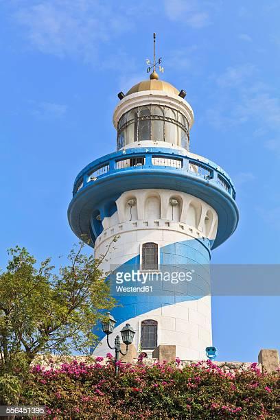 south america, ecuador, guayas province, guayaquil, cerro santa ana, lighthouse - guayaquil fotografías e imágenes de stock